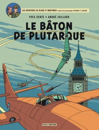 """Couverture de l'album de bande dessinée """"Le Bâton de Plutarque""""."""
