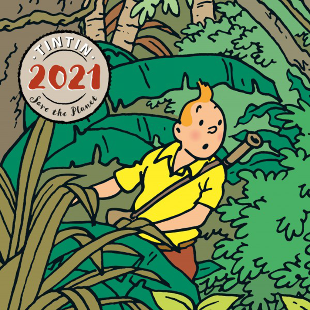 Grand Calendrier Tintin Go Green 2021: Papeterie BD chez
