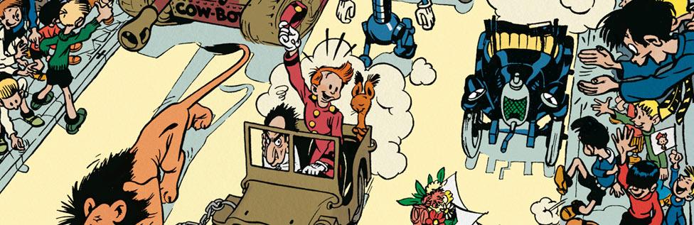 Robbedoes en Kwabbernoot door Franquin (1947)