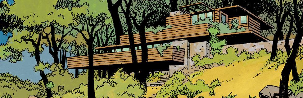 Une maison de Frank L. Wright