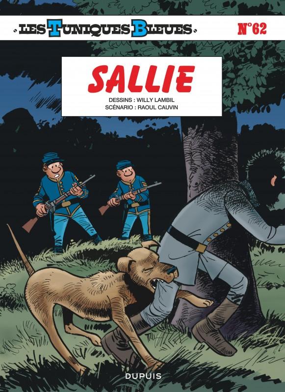 84d433eaf282 Sallie, tome 62 de la série de bande dessinée Les Tuniques Bleues, de  Cauvin - Lambil - - Éditions Dupuis