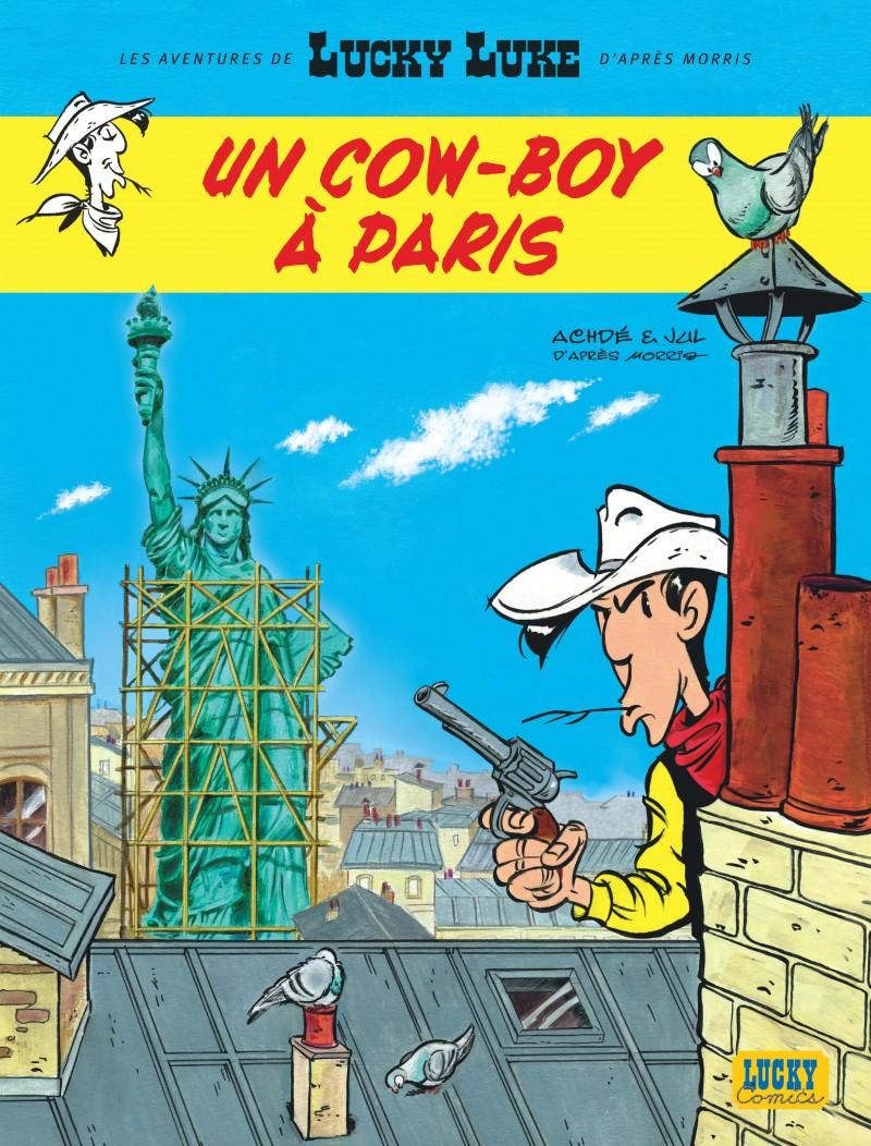 les-aventures-de-lucky-luke-dapres-morris-tome-8-un-cow-boy-paris - couv