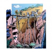 Diorama Spirou et Fantasio : Bouddha's prisonner