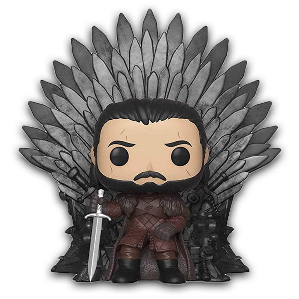 POP! Deluxe - Game of Thrones - Jon Snow sur le trône de fer