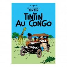 Affiche Tintin - Tintin au Congo