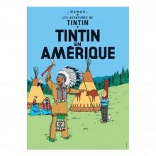 Poster Tintin, Tintin in America