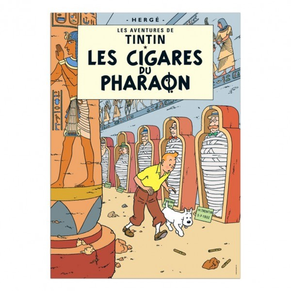 Affiche Tintin - Les Cigares du Pharaon