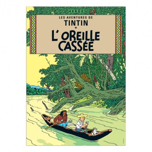 Poster Tintin, The Broken Ear