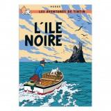 Poster Tintin, The Black Island