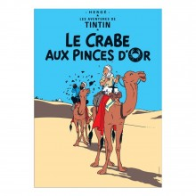 Poster Tintin The Crab with the Golden Claws (french Edition)