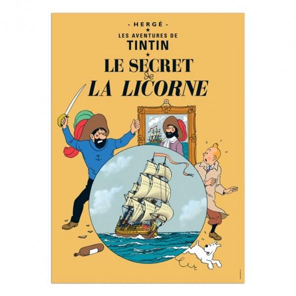 Affiche Tintin - Le Secret de la Licorne