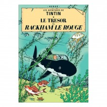 Poster Tintin Red Rackham's Treasure (french Edition)