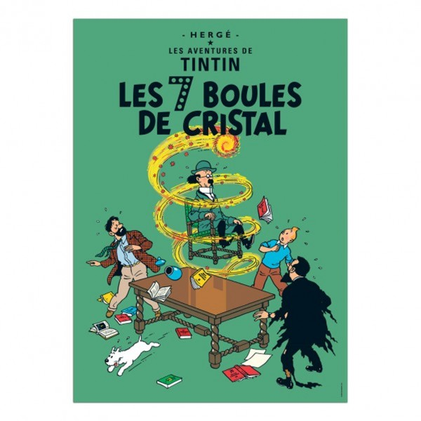 Poster Tintin The seven crystal balls (french Edition)