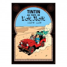 Poster Tintin Land of black golds (french Edition)