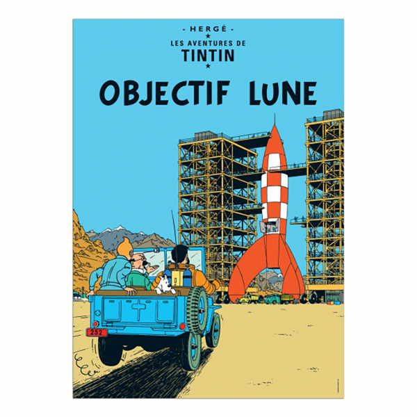 Affiche Tintin - Objectif Lune