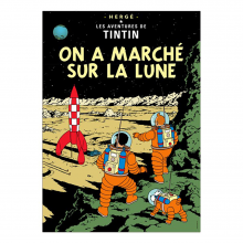 Poster Tintin Explorers on the moon (french Edition)