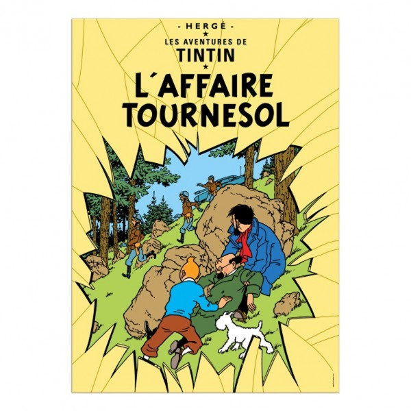 Affiche Tintin - L'Affaire Tournesol