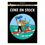Affiche Tintin - Coke en Stock
