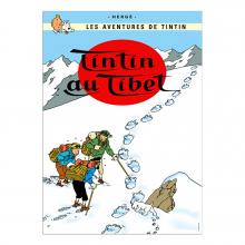 Affiche Tintin - Tintin au Tibet