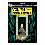 Poster Tintin Flight 714 to Sydney (french Edition)