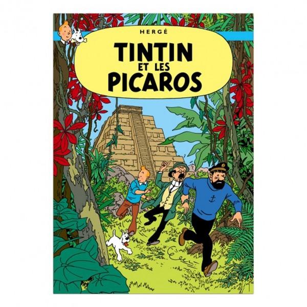 Affiche Tintin - Tintin et les Picaros