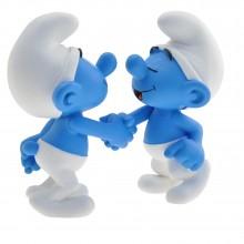 Figurine - Smurf handshake