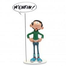 Figurine Gaston Lagaffe et sa pancarte M'enfin ! (Collectoys)