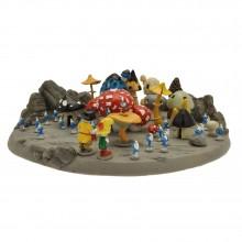 Figurine - Pixi Mini - The flute with Six Smurfs