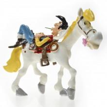 Figurine - Lucky Luke sleeping on Jolly Jumper