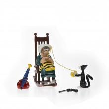 Figurine - Ma Dalton knitting in her rocking chair