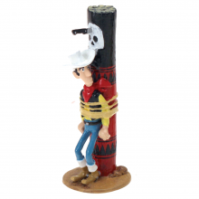 Figurine Pixi Lucky Luke attached to the torture stake