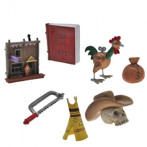 Figurine - Boîte n°4 Objets du mythe Lucky Luke