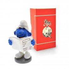 Figurine - PIXI ORIGIN - Bookworm Smurf