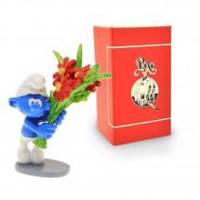 Figurine - PIXI ORIGIN - Smurf with a bouquet