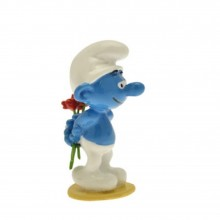Figurine - Smurf with flowers - Origin