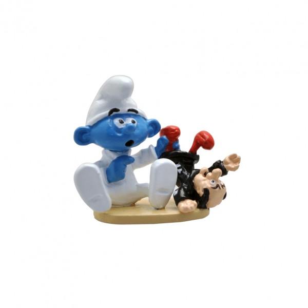Figurine Pixi Baby Smurf and his Gargamel doll