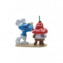 Figurine Pixi Baker Smurf and his cake