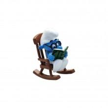 Figurine Pixi Brainy Smurf on rocking-chair