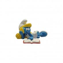 Figurine Pixi Smurfette reading