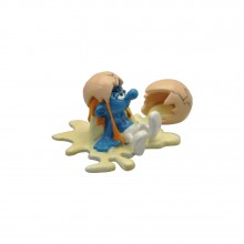 Figurine Pixi Grouchy Smurf and the broken egg