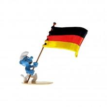 Figurine Pixi German flag carrier Smurf