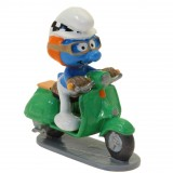Figurine Pixi Le Schtroumpf à scooter vert, Code de la route