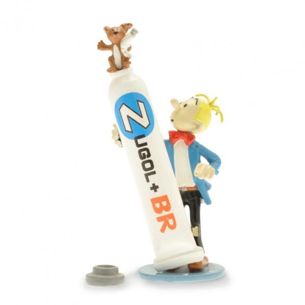 Figurine Fantasio et le tube de dentifrice Zugol