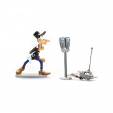 Figurine Longtarin and the parking meters sawyer robot by Pixi Origines
