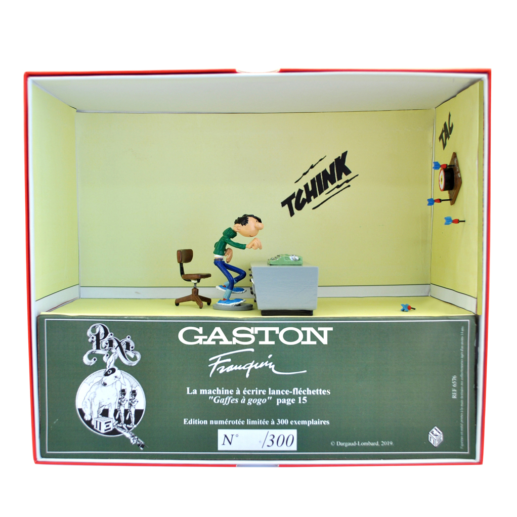 La machine à écrire lance fléchette - Gaston Lagaffe - Collection Boîte