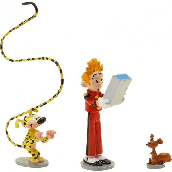 Pixi Figurine Spirou, Spip, Marsupilami and mini Fantasio