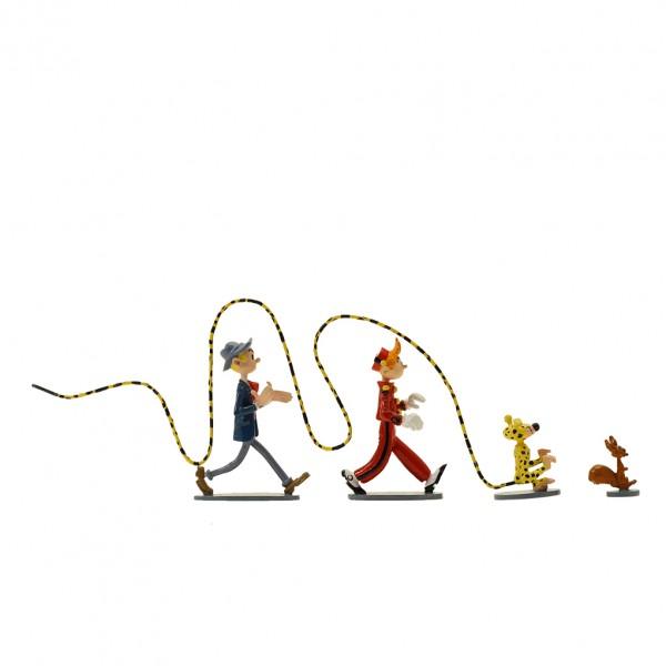 Pixi Figurine Spip, Marsupilami, Spirou and Fantasio: 4 heroes in the wind