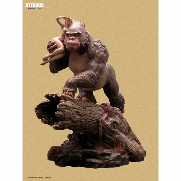 Figurine Pin-Up et Gorille Attakus