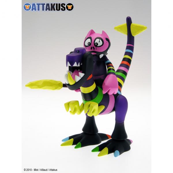 Figurine Dino & Orus  Rainbow Warrior Attakus
