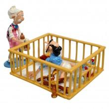 Figurine Pixi Champignac and Zorglub in the playpen
